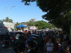 Sorteio Natal de Prêmios ACIAPS - Dispersão da população após o término do evento.